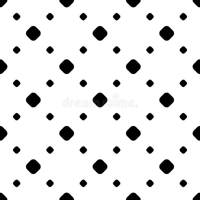 Modèle monochrome simple de minimaliste de point de polka illustration stock