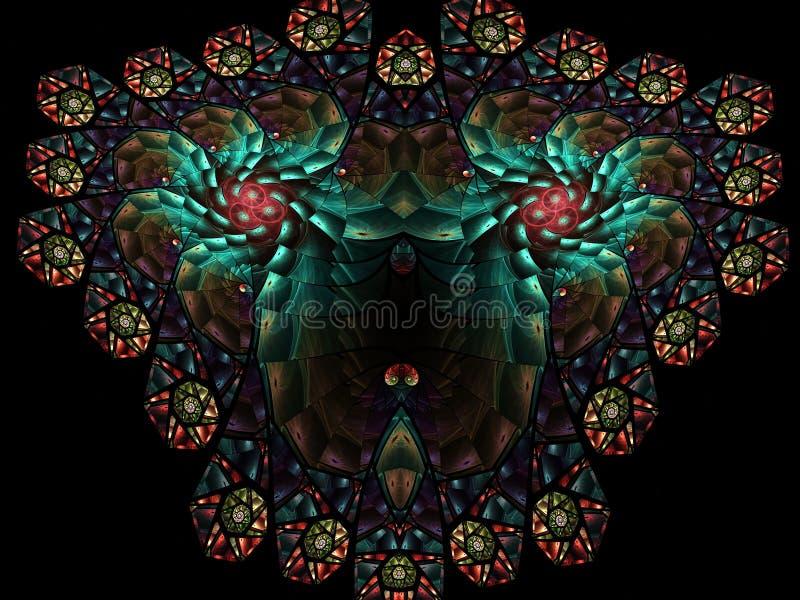 Modèle multicolore abstrait de fractale Dessins générés par ordinateur images stock