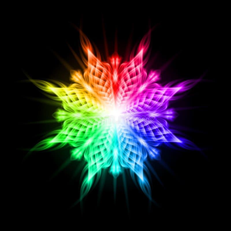 Modèle Multicolore Sur Le Fond Noir Illustration de Vecteur - Illustration du fleur, gemme: 42623333