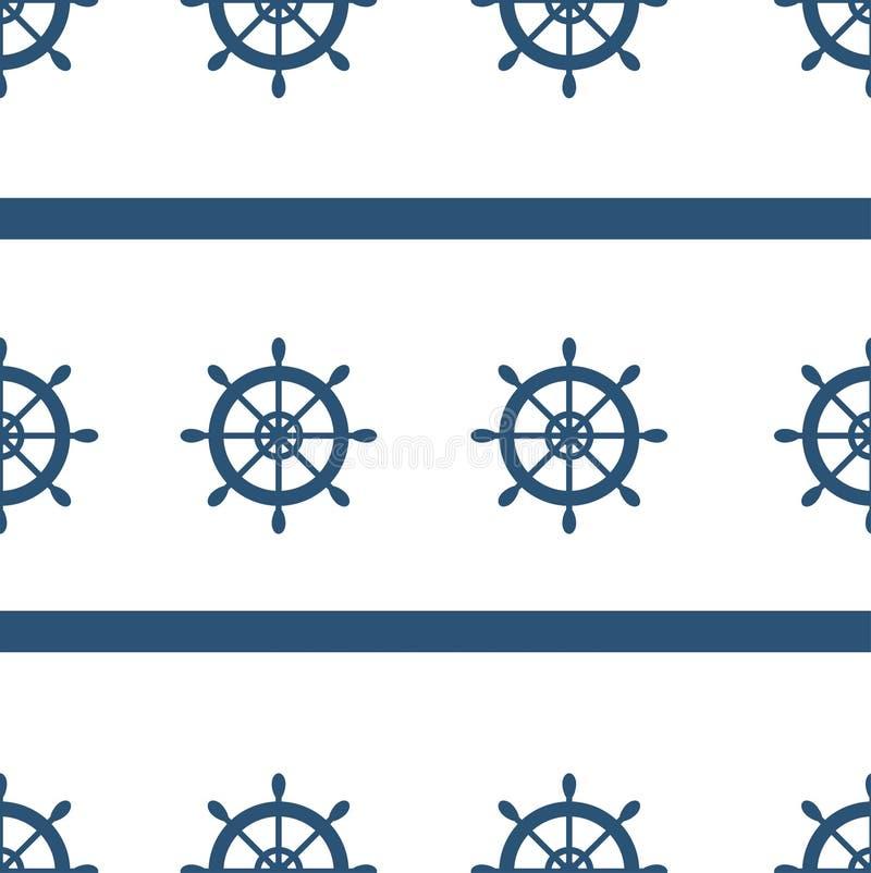 Modèle nautique de patchwork d'éléments illustration libre de droits