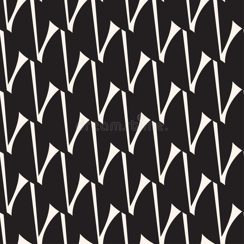 Modèle noir d'astract de feuilles Fond sans couture graphique illustration stock
