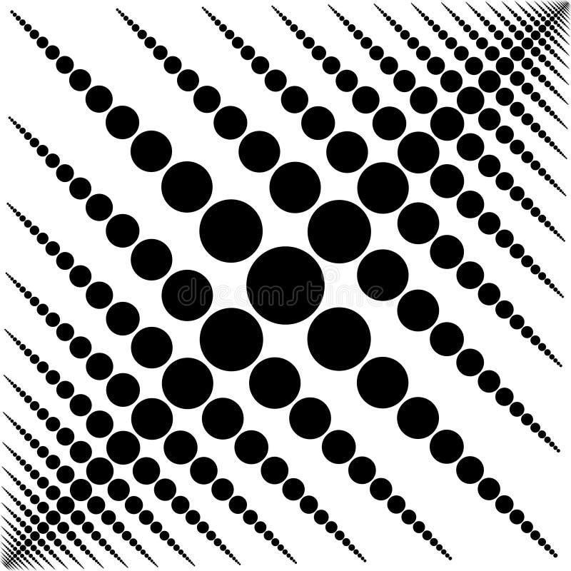 Modèle noir et blanc circulaire de fond illustration stock