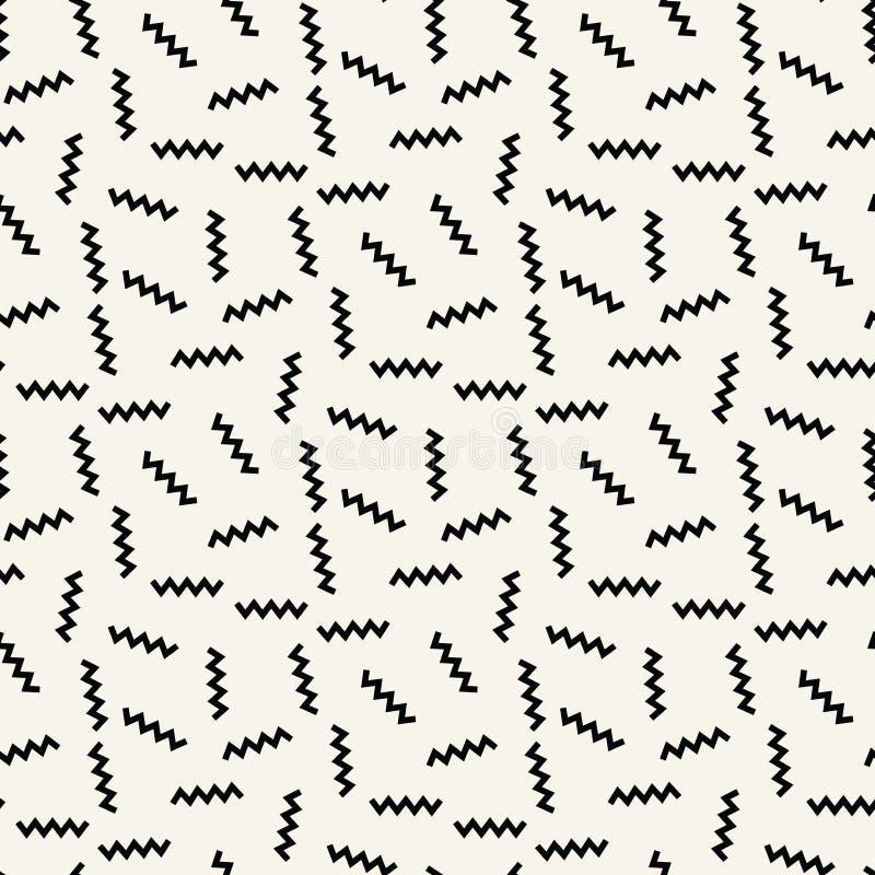 Modèle noir et blanc de mode de Memphis d'art de deco de geometrc abstrait illustration libre de droits