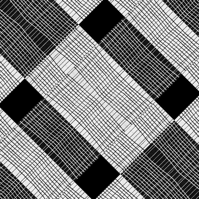Modèle noir et blanc de pieds de contrôle illustration stock