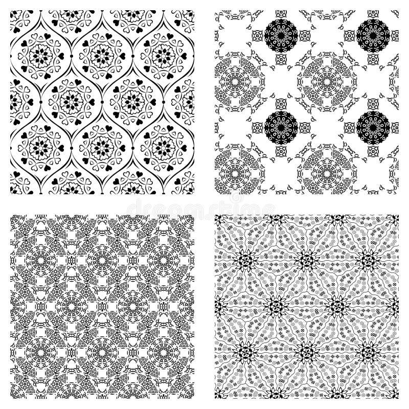 Download Modèle Noir Et Blanc De Triangle, Fond, Texture Illustration de Vecteur - Illustration du monochrome, tissu: 56477404