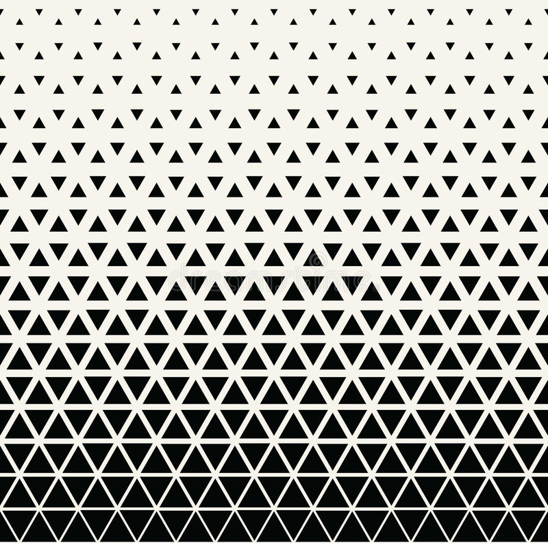 Modèle noir et blanc géométrique abstrait d'image tramée de triangle de conception graphique illustration stock