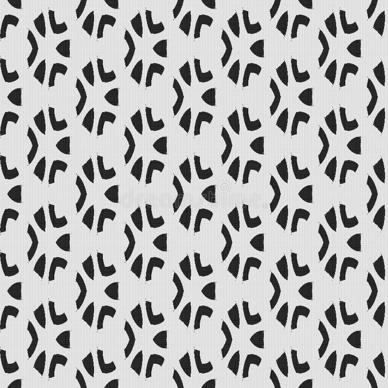 Modèle noir et blanc régulier de rideau aligné dans la place Illustration riche tramée de modèle Fond abstrait de fractale illustration libre de droits