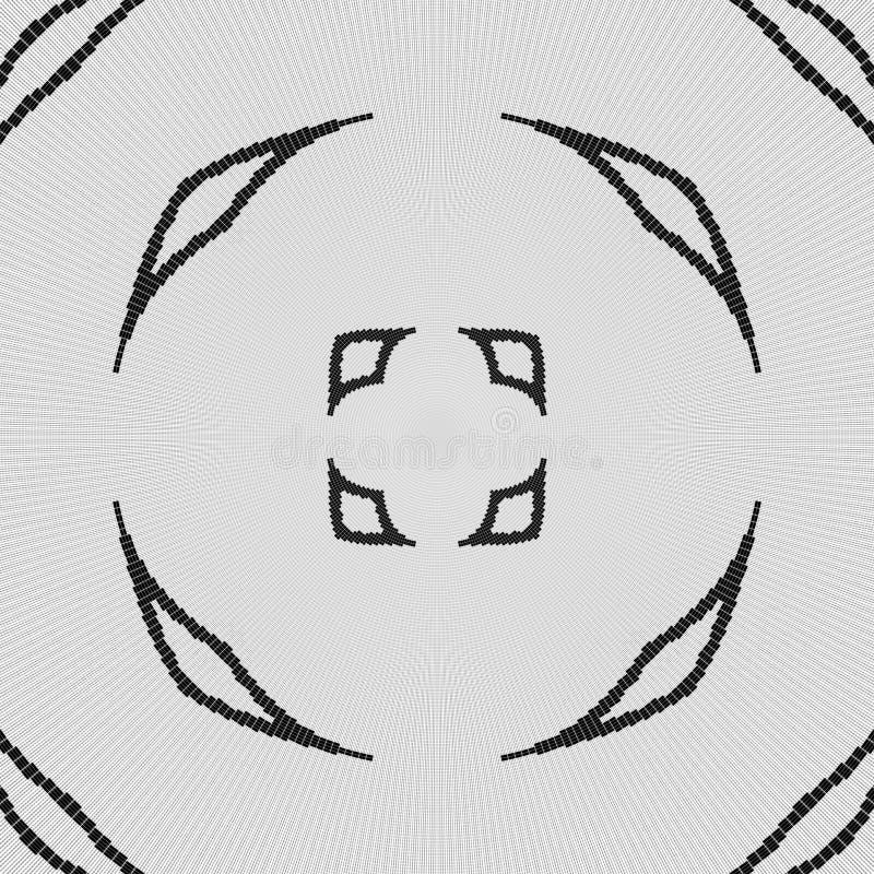 Modèle noir et blanc régulier de rideau aligné en oeufs Illustration riche tramée de modèle illustration libre de droits