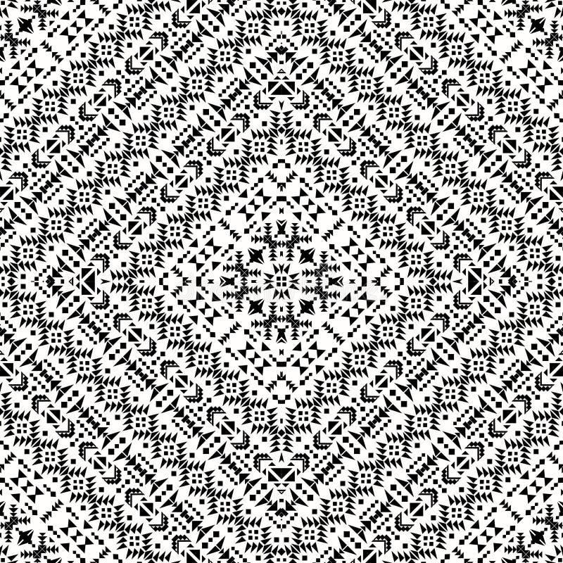 Modèle noir et blanc sans couture de Navajo illustration de vecteur