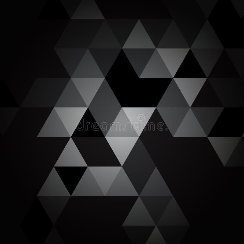 Download Modèle Noir Et Gris De Triangle Illustration de Vecteur - Illustration du conception, gris: 87709659