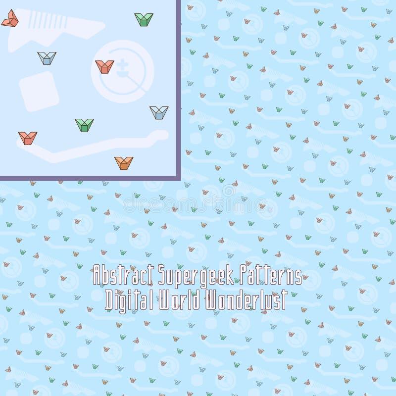 Modèle numérique fou avec la géométrie étrange illustration de vecteur