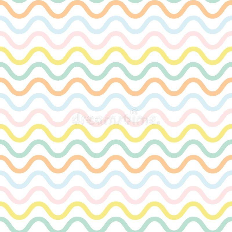 Modèle ondulé mignon illustration de vecteur