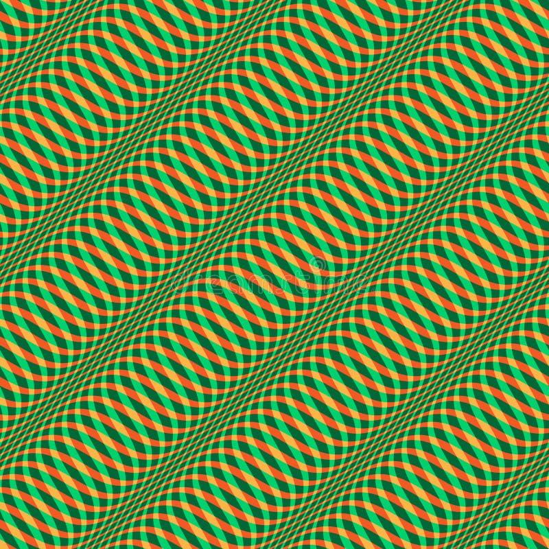 Modèle onduleux de Noël sans couture illustration de vecteur