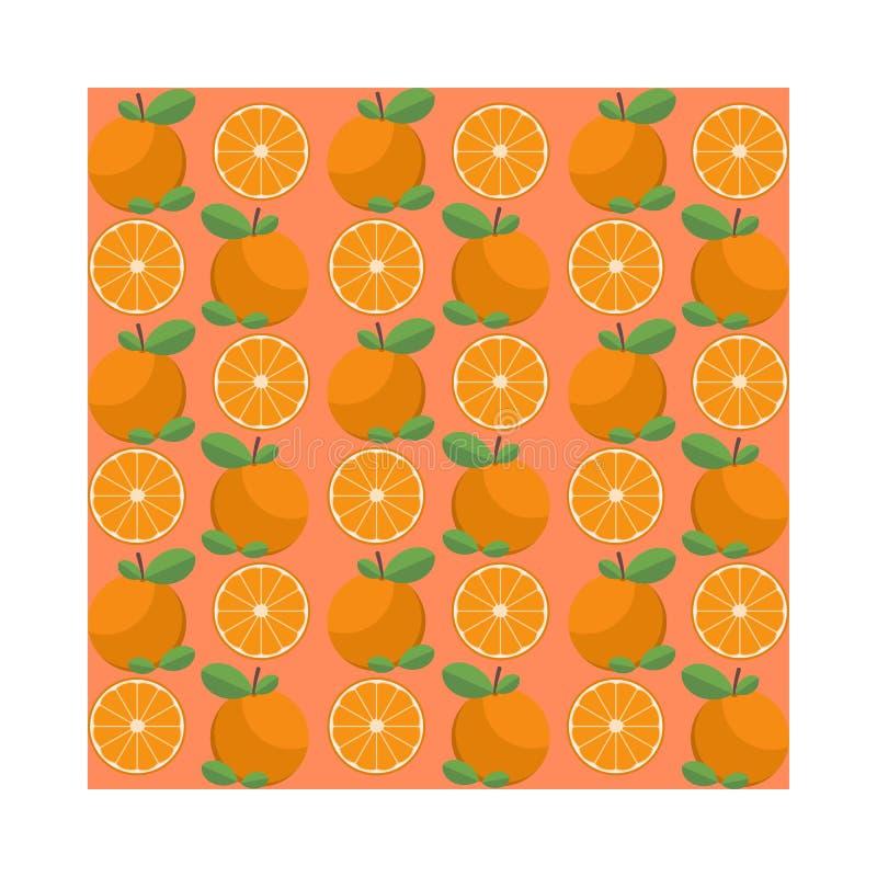 Modèle orange frais juteux Fond sans couture unique de modèle illustration de vecteur