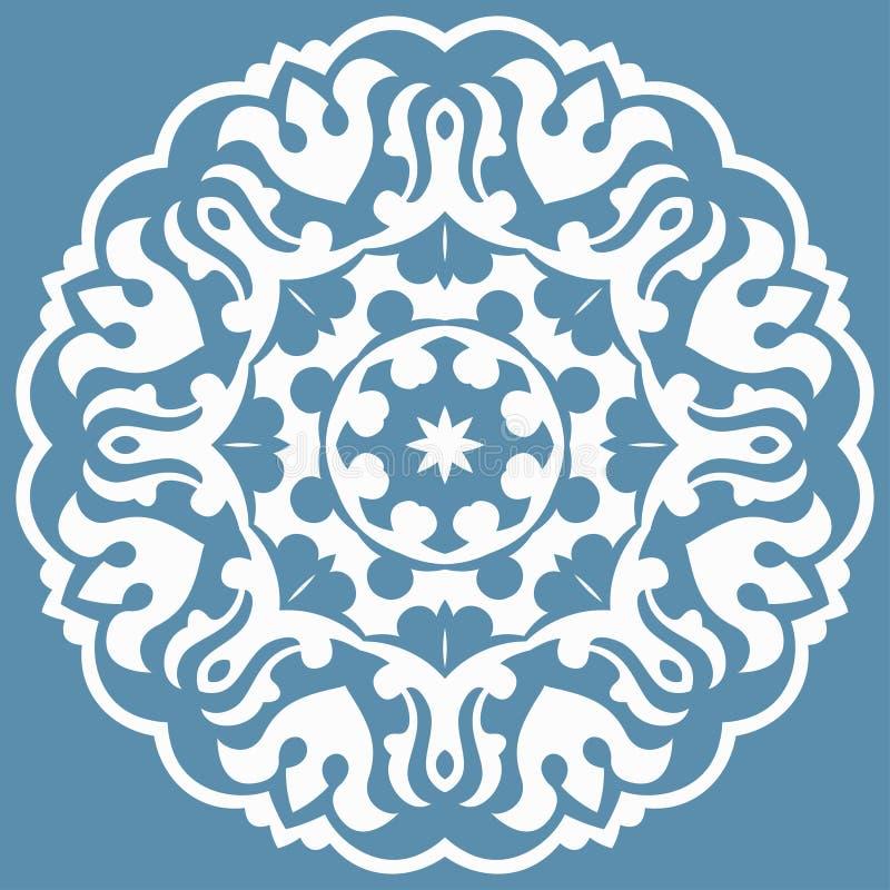 Modèle oriental avec des arabesques et des éléments floraux photos stock