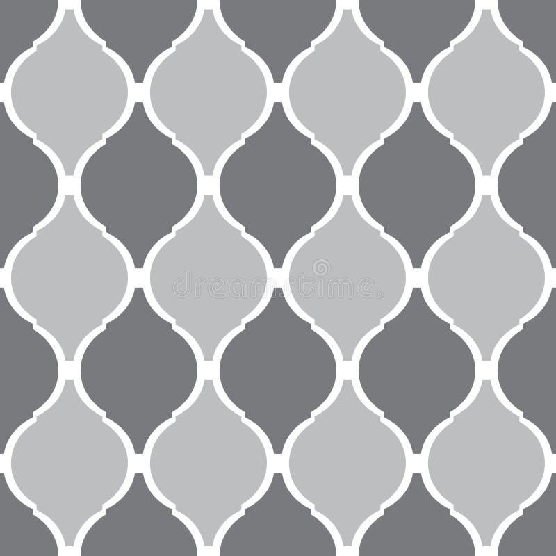 Modèle oriental décoratif Décor arabe Configurations sans joint de vecteur illustration libre de droits