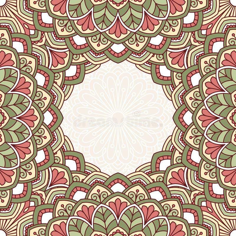 Modèle oriental floral illustration de vecteur