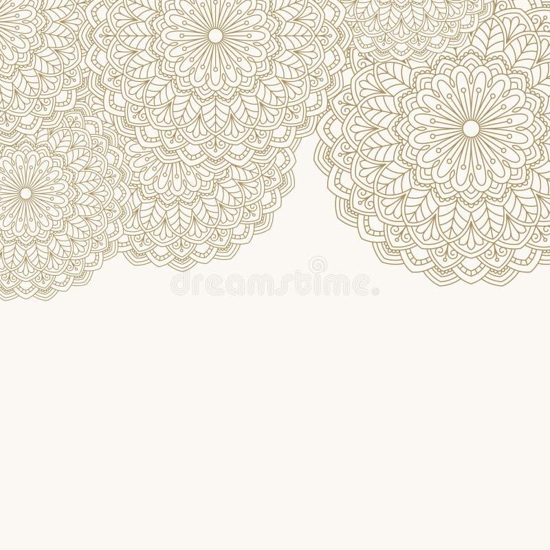 Modèle oriental floral illustration libre de droits