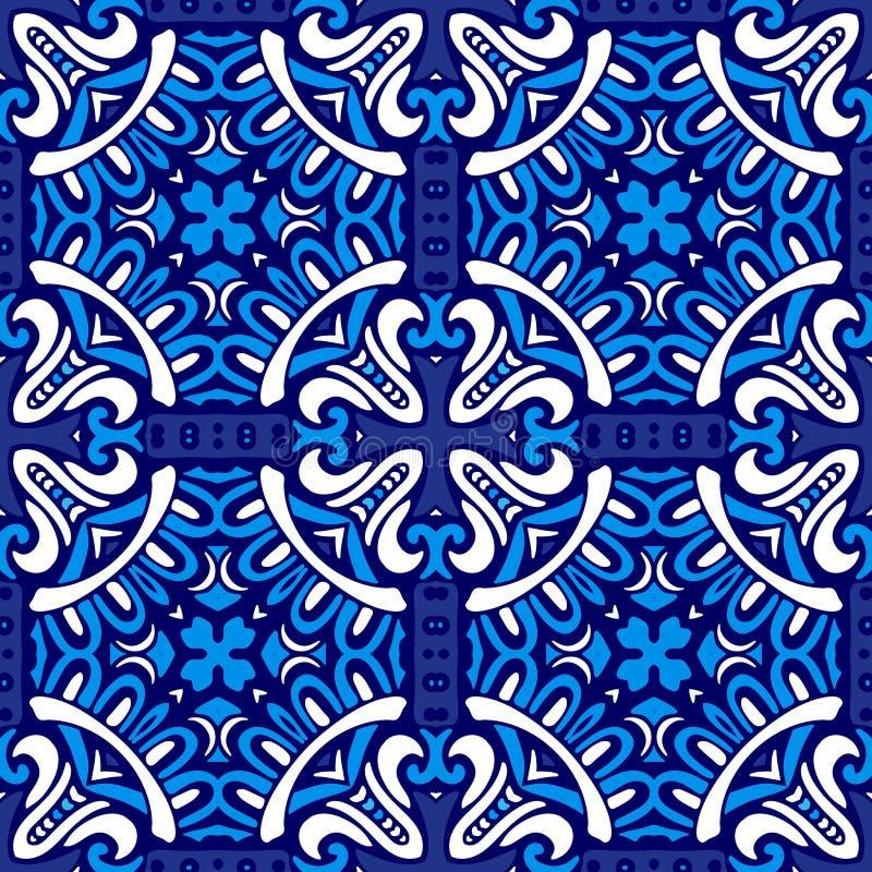 Modèle ornemental sans couture abstrait pour le tissu illustration de vecteur