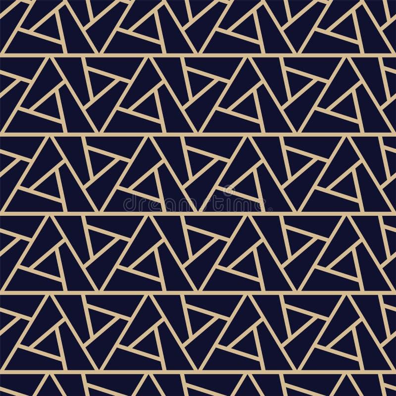 Modèle ornemental sans couture de luxe - conception riche géométrique Fond décoratif de vecteur - texture créative de triangle illustration libre de droits