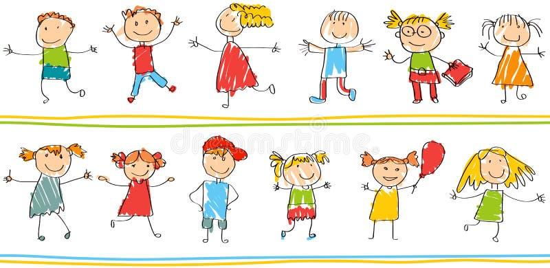Modèle ornemental sans couture pour des enfants illustration de vecteur