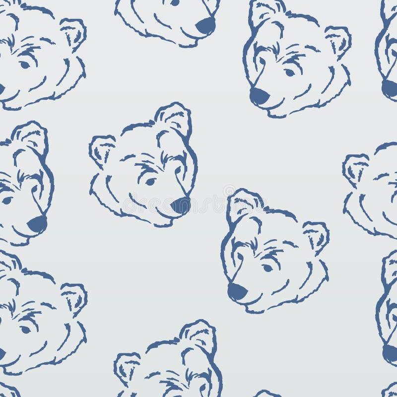 Modèle, ours blanc illustration stock
