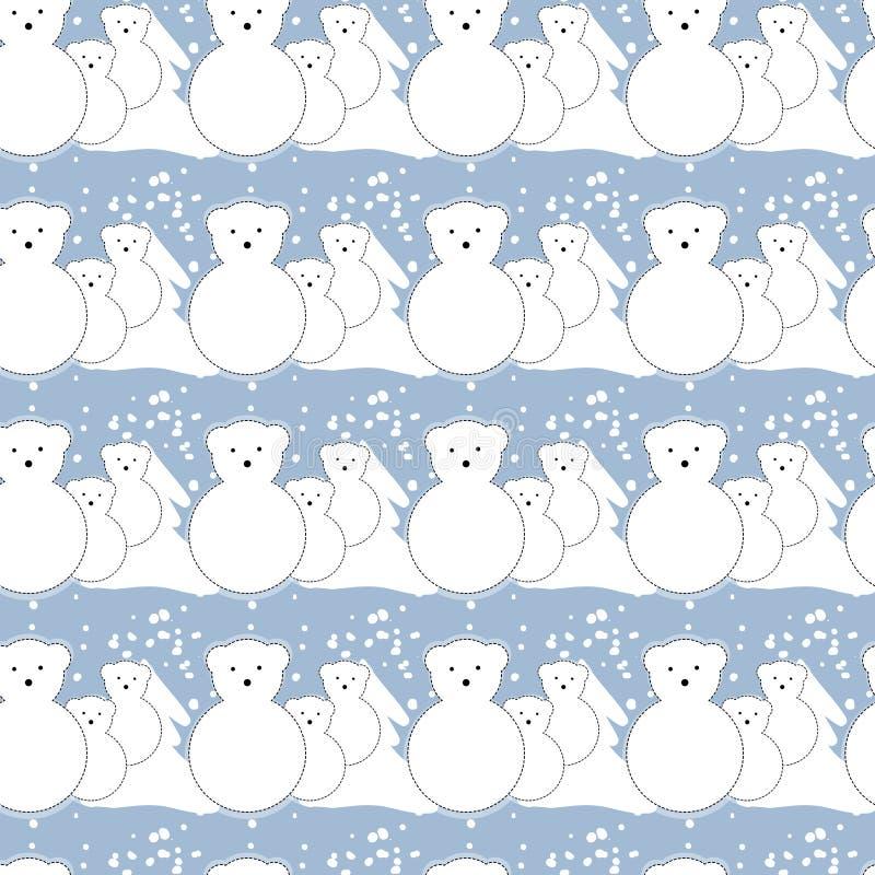 Modèle, ours blancs, hiver illustration libre de droits