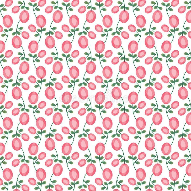 Modèle ovale de rose de rose de mod illustration libre de droits