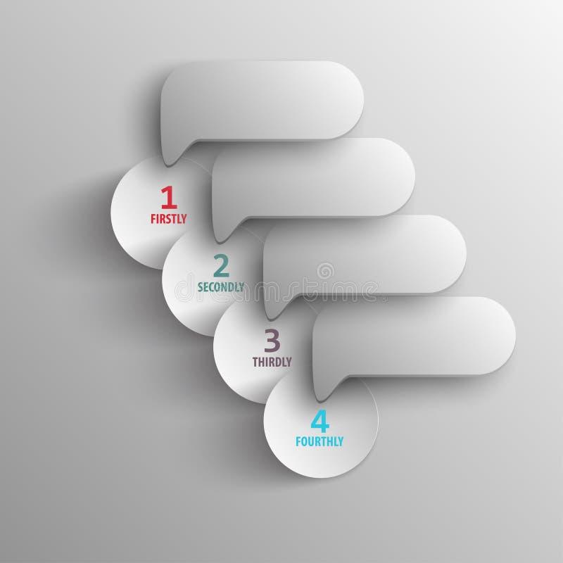Modèle par étapes de papier pour des présentations d'affaires illustration stock