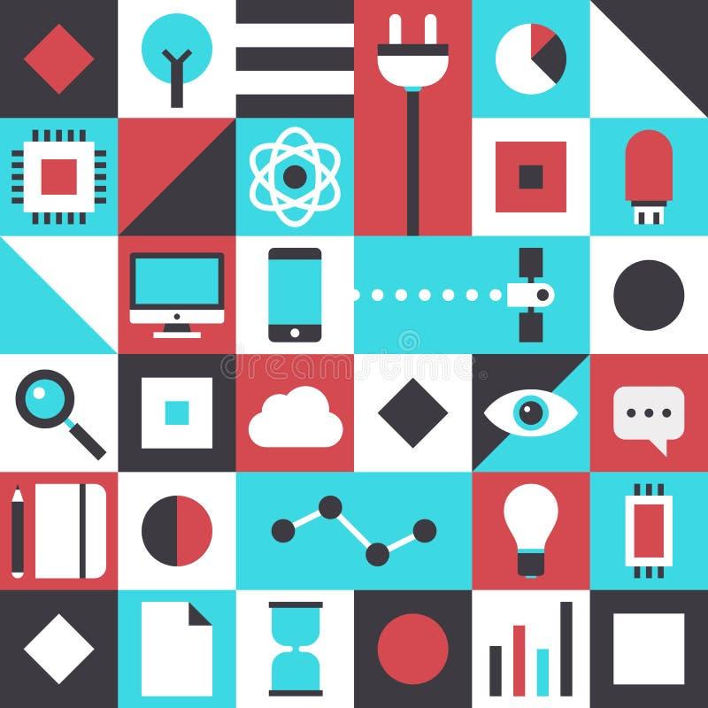 Modèle plat de technologie moderne illustration de vecteur