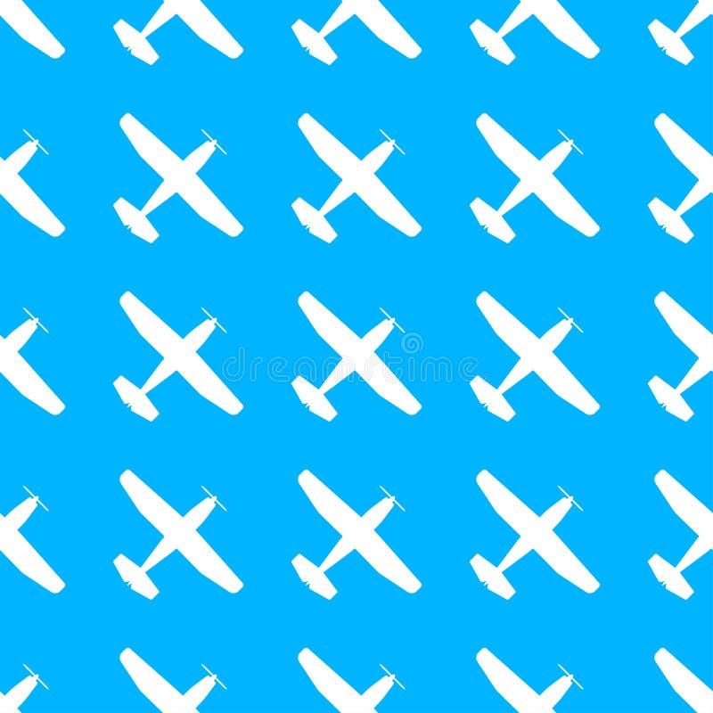 Modèle plat Texture sans couture d'avion Avions dans le ciel Illustration de vecteur illustration stock