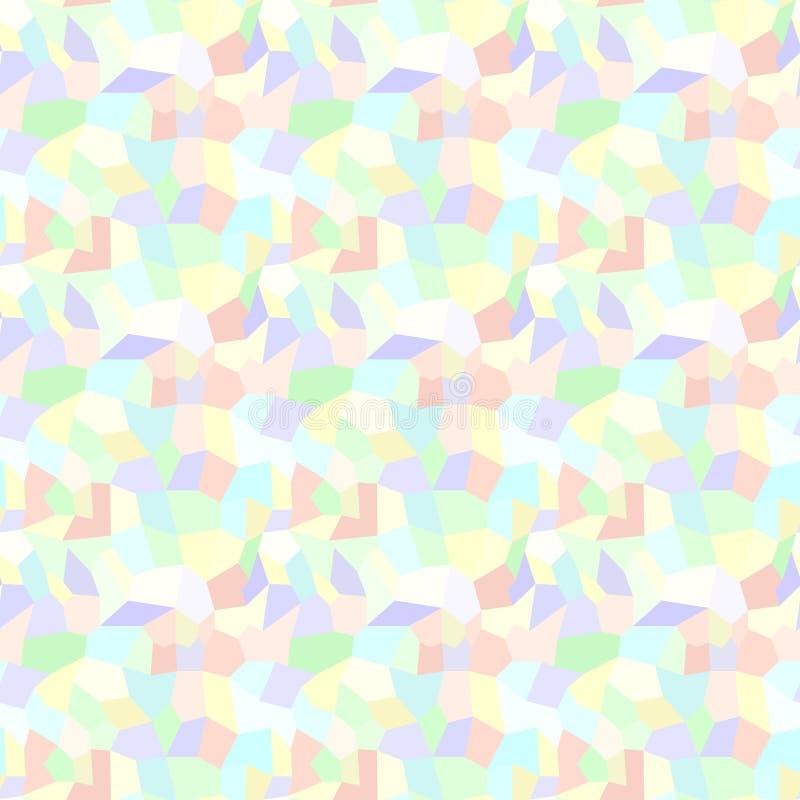 Modèle polygonal Fond sans joint de vecteur illustration stock