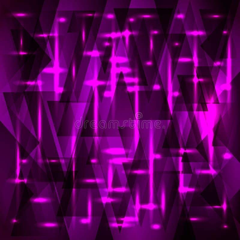 Modèle pourpre riche de vecteur des fragments et des triangles avec des étoiles illustration stock