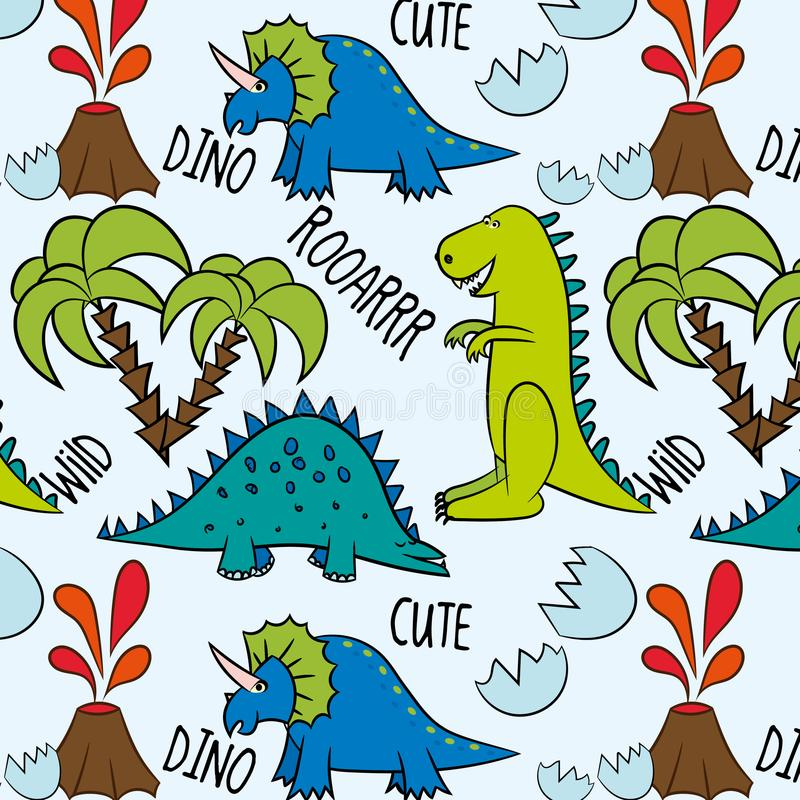 Modèle préhistorique Dino Friends illustration de vecteur