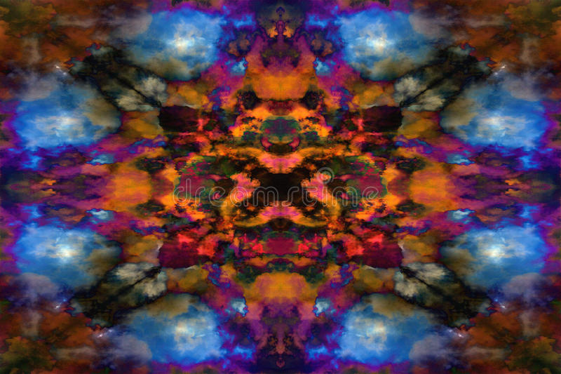 Modèle psychédélique de nuage de kaléidoscope illustration stock