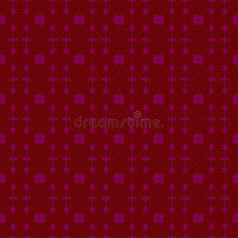 Modèle régulier sans couture d'ellipses rouge foncé et violet illustration libre de droits