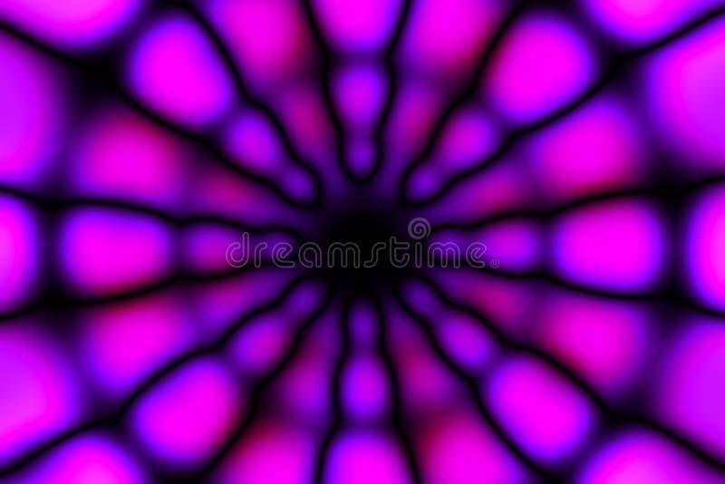 Modèle radial multicolore de lumière de cercle images stock