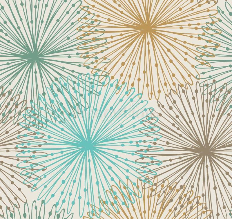 Modèle radial sans couture Maillage du fond abstrait illustration stock