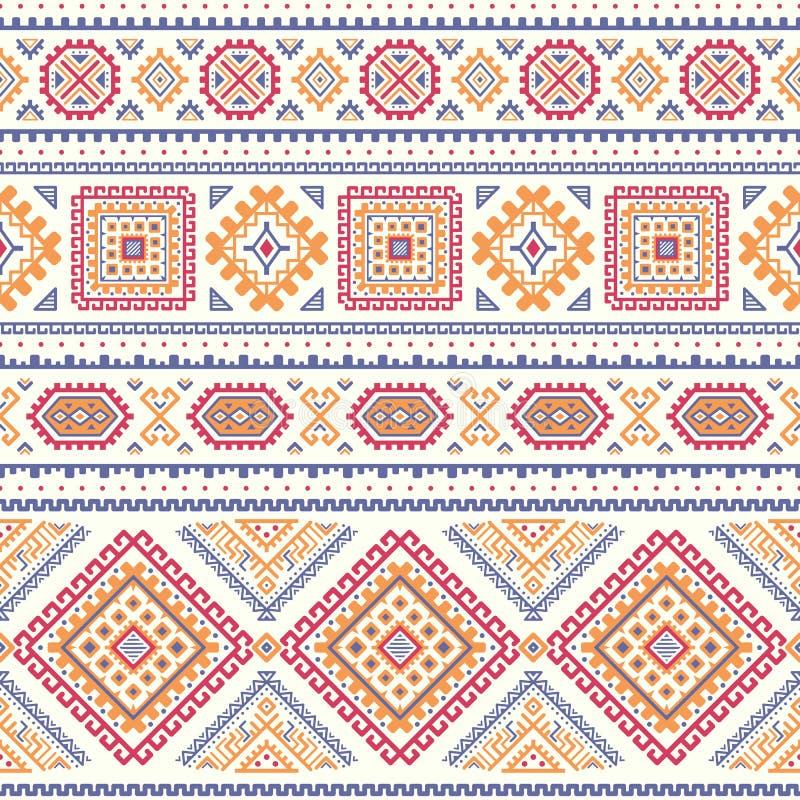 Modèle rayé coloré sans couture ethnique illustration stock