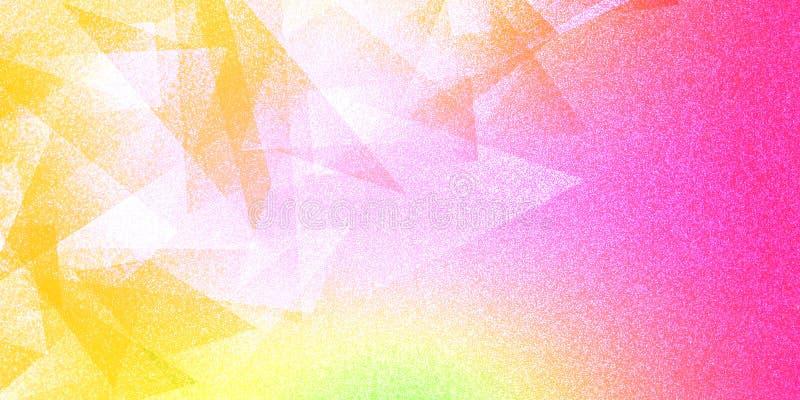 Modèle rayé et blocs ombragés par fond coloré abstrait dans les lignes diagonales avec la texture colorée de cru illustration stock