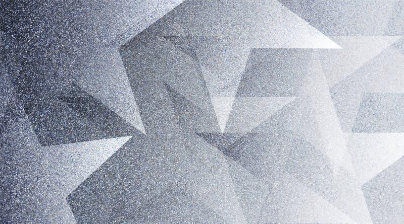 Modèle rayé et blocs ombragés par fond gris abstrait dans les lignes diagonales avec la texture grise de cru image libre de droits