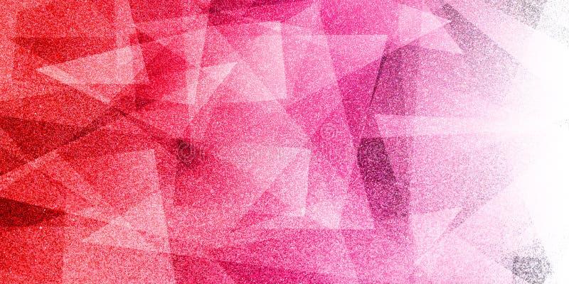 Modèle rayé et blocs ombragés par fond rouge abstrait dans les lignes diagonales avec la texture rouge de cru illustration stock