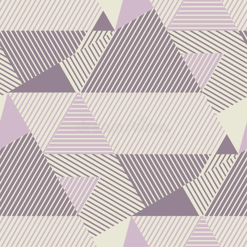 Modèle rayé géométrique dans des couleurs attrayantes de la poussière illustration stock