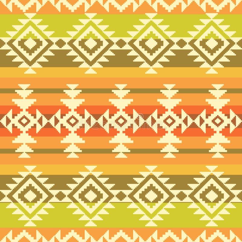 Modèle rayé géométrique tribal illustration stock