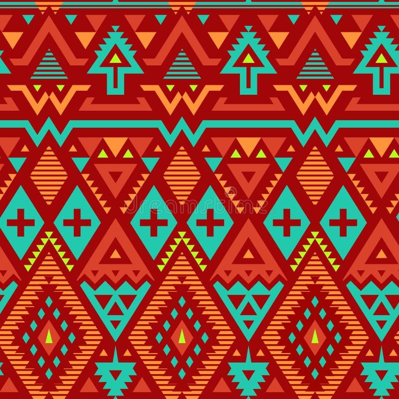Modèle rayé tribal sans couture de vecteur illustration libre de droits