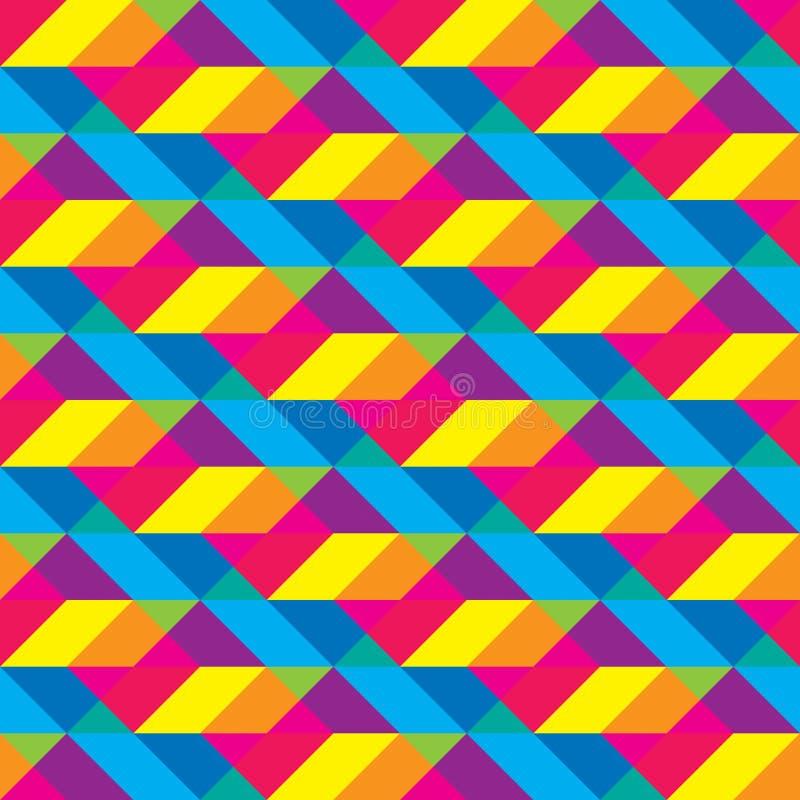Modèle recouvert sans couture de formes polygonales de Cmyk photographie stock libre de droits