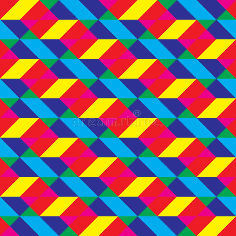 Modèle recouvert sans couture de formes polygonales de Cmyk photo libre de droits