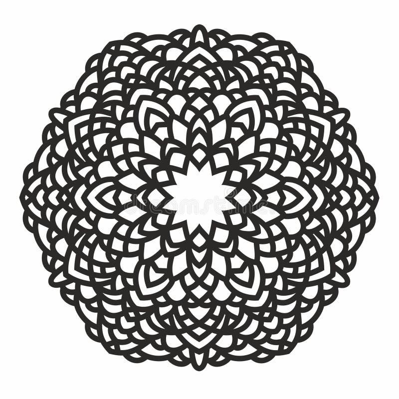 Modèle rond ornemental illustration de vecteur