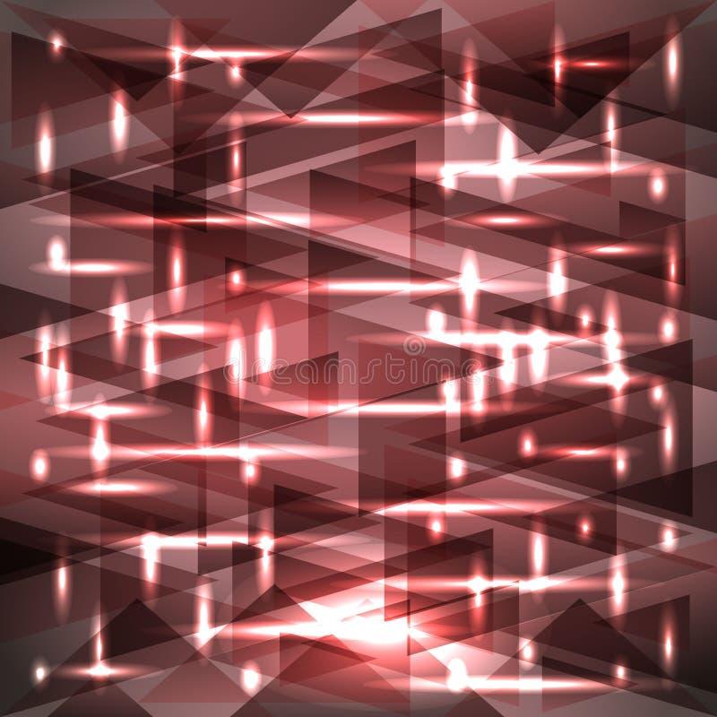 Modèle rose boueux brillant de couleur de vecteur des tessons et des bandes illustration de vecteur