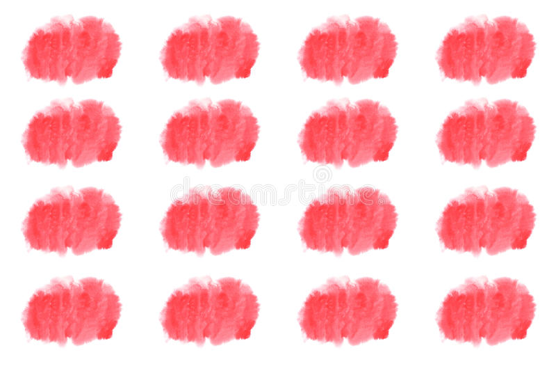 Modèle rose de tache d'aquarelle sur le fond blanc illustration libre de droits